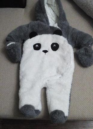 Теплый комбинезон next панда