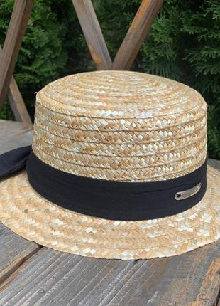 🔥🔥актуально популярная шляпа канотье соломенная