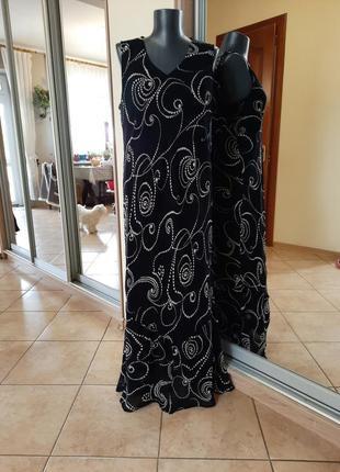 Красивое на подкладке платье 👗большого размера