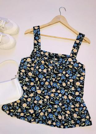 Красивая блуза топ на пышные формы лён