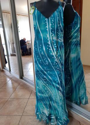 Шикарное вискозно-шелковое платье 👗большого размера