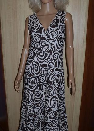 Льняное миди платье alex&co 40 размер