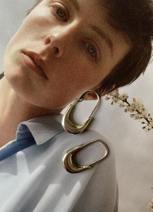Трендові срібні сережки