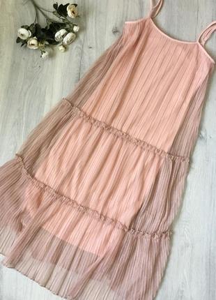 Стильное шифоновое платье bebe, размер s