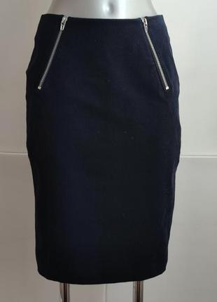 Дизайнерская  юбка alexander wang с молниями