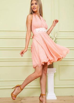 Нежнейшее шифоновое женское платье на лето легкое женское платье из шифона женское платье на запах