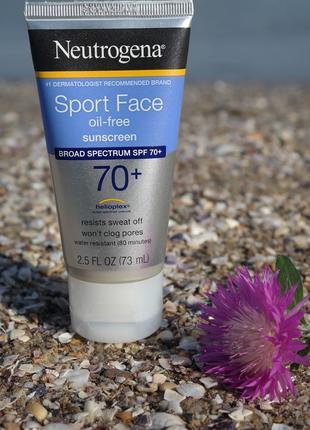Neutrogena безмасляный солнцезащитный крем лосьон для  лица склонной к акне spf 55