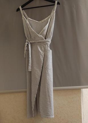Платье миди сарафан zara