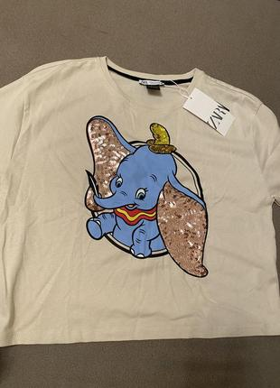 Zara футболка из лимитированной коллекции dambo дамбо