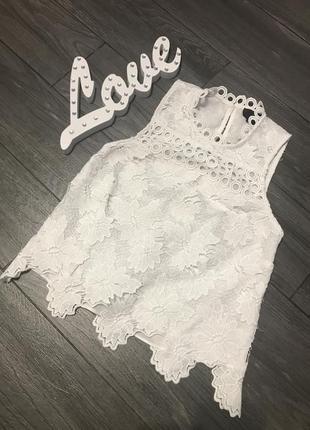Ажурный топ блуза