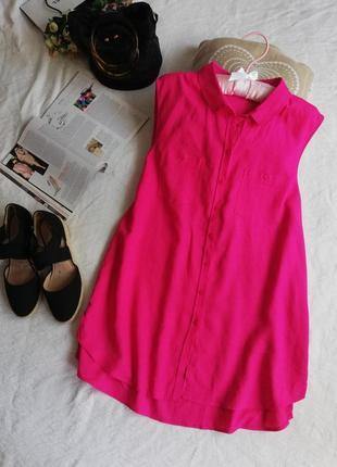Блуза, сорочка, туніка безрукавка george фуксія, великий розмір.