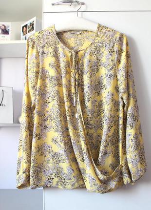 Легкая желтая шифоновая блуза от george