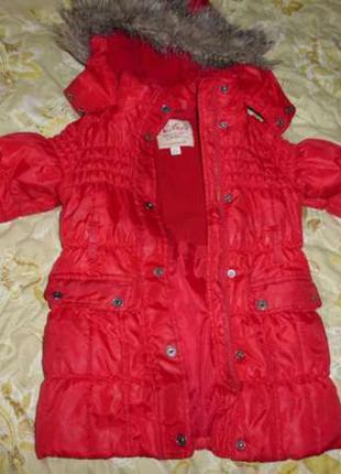 Удлиненная куртка некст, демисезон, 3-5 лет
