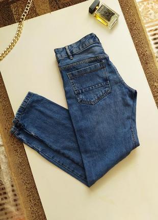 Актуальные прямые джинсы / деним / высокая посадка / клёш мом / штаны