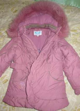 Зимняя куртка kiko, на 4-6 лет