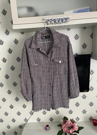 Твидовая рубашка куртка