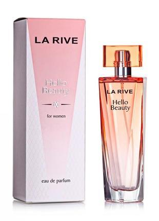 Тестер женская парфюмированная водa la rive hello beauty 100мл польша!