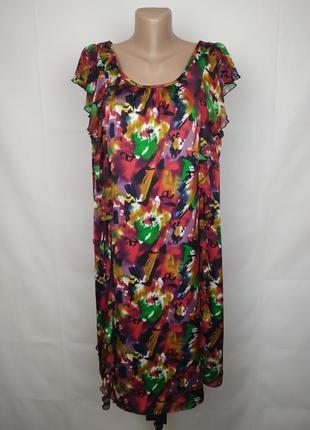Платье стильное яркое с рюшами next uk 14-16