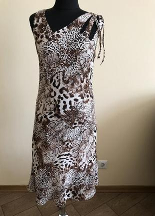 Платье шифоновое миди