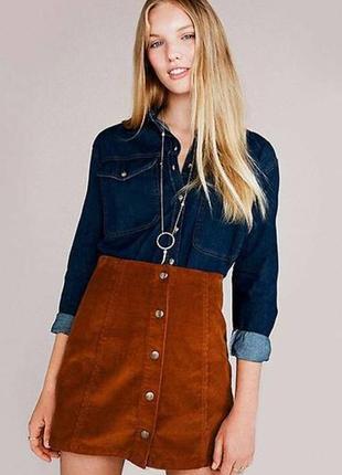 Вельветовая стильная юбка mango