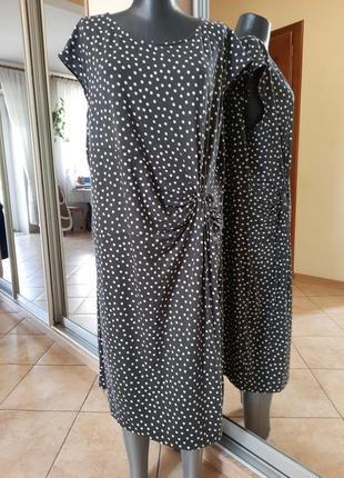 Шикарное в горох платье 👗большого размера