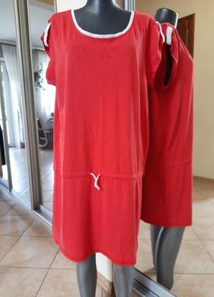 Легкое котоновое платье 👗большого размера