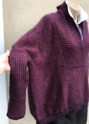 Шерсть,мохер,шелк свитер,кофта,джемпер,большой размер,maryse cepiere,франция3 фото