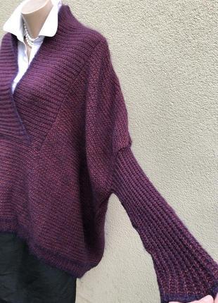 Шерсть,мохер,шелк свитер,кофта,джемпер,большой размер,maryse cepiere,франция8 фото