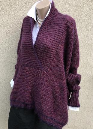 Шерсть,мохер,шелк свитер,кофта,джемпер,большой размер,maryse cepiere,франция9 фото