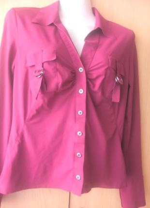 Актуальная блузка-сочное бордо