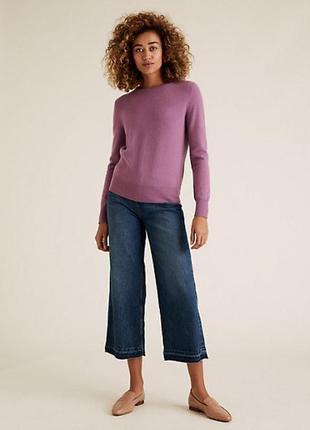 Marks & spencer кашемировый свитер джемпер лонгслив