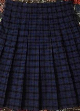 Юбка в складку японская школьница харадзюку плиссе теннисная красная шотландка клетку