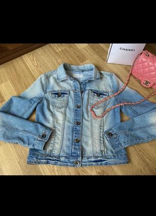 Джинсовка new look светлый джинс, курточка, куртка джинсовая
