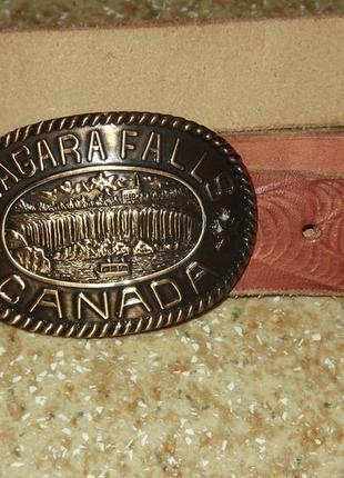 Винтажный кожаный ремень niagara falls canada