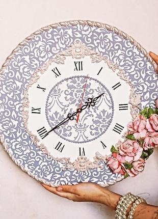 """Часы """"кружевные"""" в стиле барокко, настенные, тихий кварцевый механизм"""