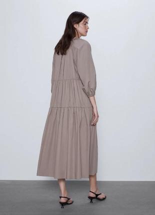 Легкое летнее платье сарафан поплиновое zara2 фото