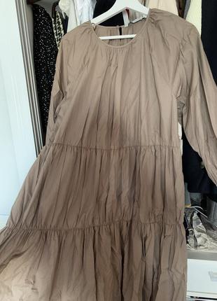 Легкое летнее платье сарафан поплиновое zara6 фото