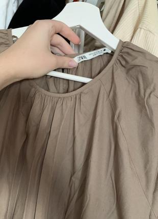 Легкое летнее платье сарафан поплиновое zara7 фото