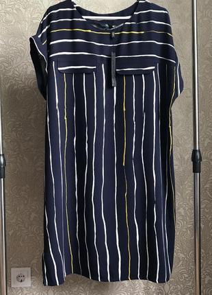 Модное натуральное платье.uk 18;eur 46