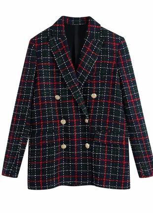 Пиджак ,твидовый пиджак ,трендов цвет zara