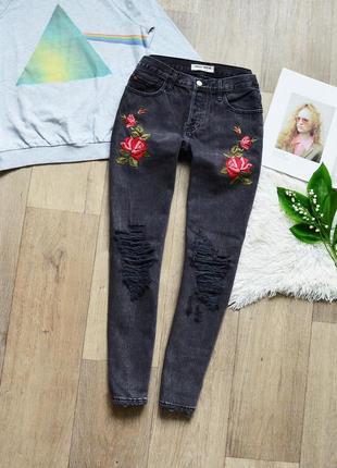 Бомбезні мом джинси tally weijl із чудовою вишивкою