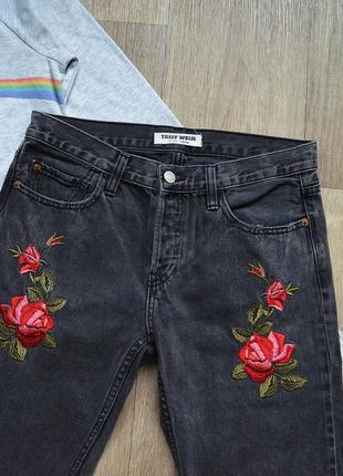 Бомбезні мом джинси tally weijl із чудовою вишивкою4 фото