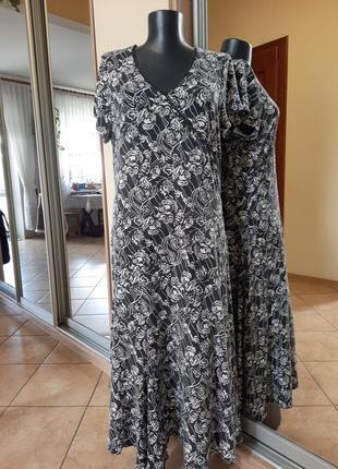 Комфортное вискозное платье 👗большого размера