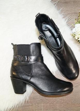 (40р./26см) footglove! кожа! стильные базовые полусапожки челси на устойчивом каблуке