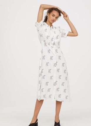 Платье рубашка h&m (р.s)