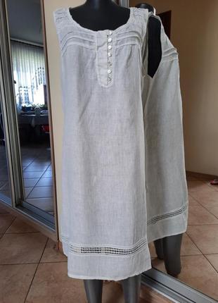 Комфортное 💯% льняное платье 👗большого размера
