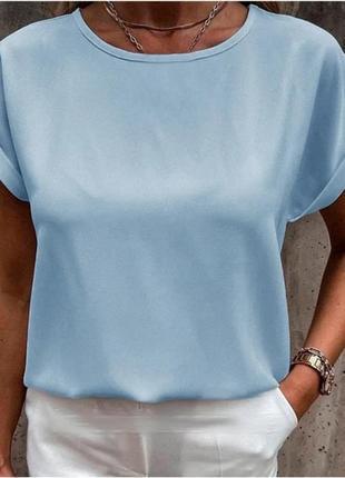 Легкая блузка-футболка. много цветов...
