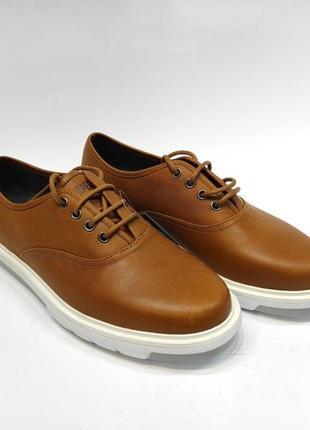 Туфлі шкіряні camper коричневі напівкласика нові туфли