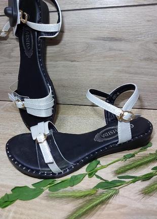 Босоножки женские 🍓 низкий ход сандалии лето босоніжки сандалі