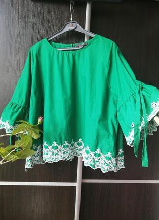 Шикарная,оригинальная новая блуза блузка. 100%хлопок. primark